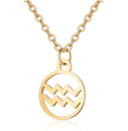 Gouden sterrenbeeld ketting Waterman