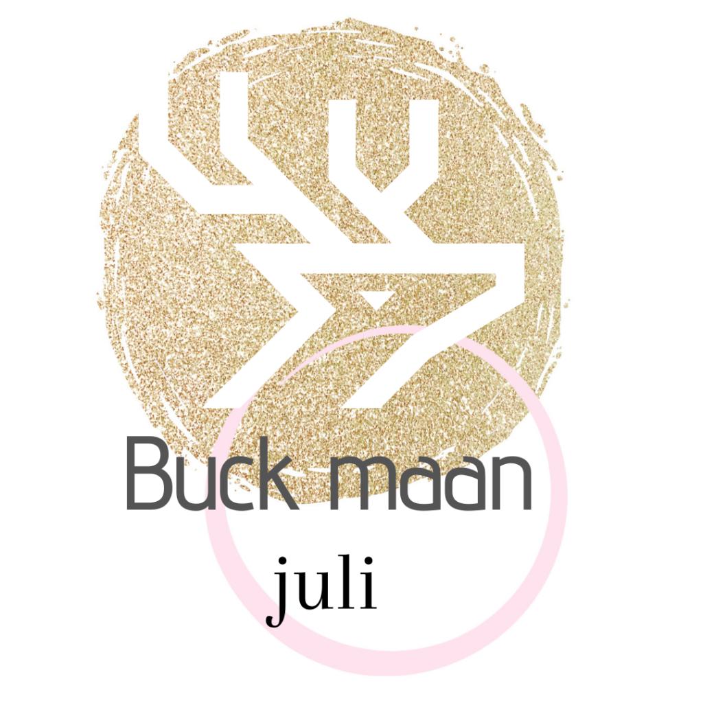 De naam van de volle maan in juli Buck maan.