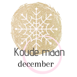 De naam van de volle maan in december Koude maan.
